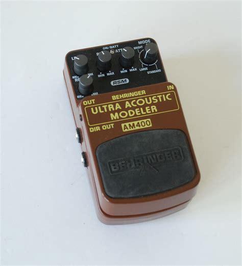Behringer Guitar Stompboxes Ultra Acoustic Modeler Am400 behringer ultra acoustic modeler am400 ile de audiofanzine