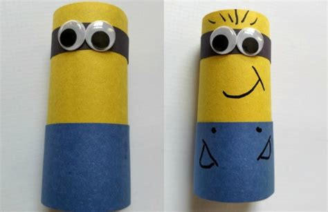 Minion Toilet Paper Roll Craft - make a minion easy craft