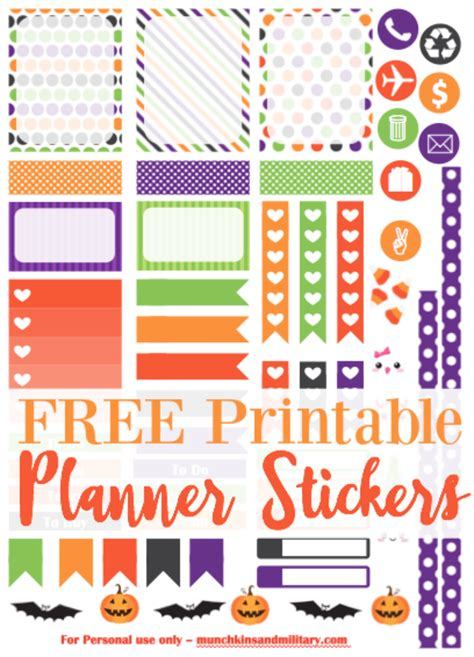 free printable life planner stickers october planner stickers munchkins and the military