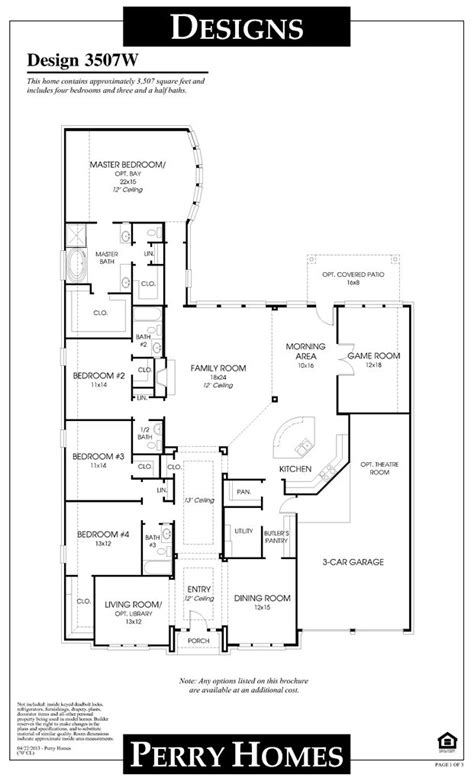 perry homes floor plans 72 best images about house plans on pinterest 3 car