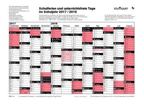 Kalender 2018 Ferien Frankreich Dillmann Gymnasium Stuttgart Ferienkalender