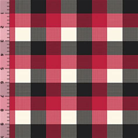 versatile sew in in buffalo black red cream buffalo plaid cotton jersey blend knit
