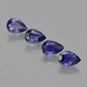 Purplish Blue Iolite 6 45ct 2 5 carat violet bleu iolite gems de madagascar naturel