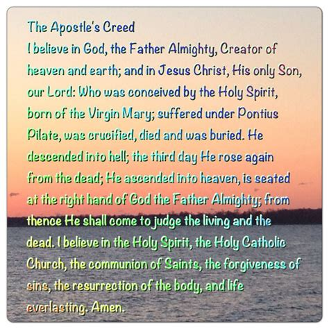 Apostles creed history catholic marriage