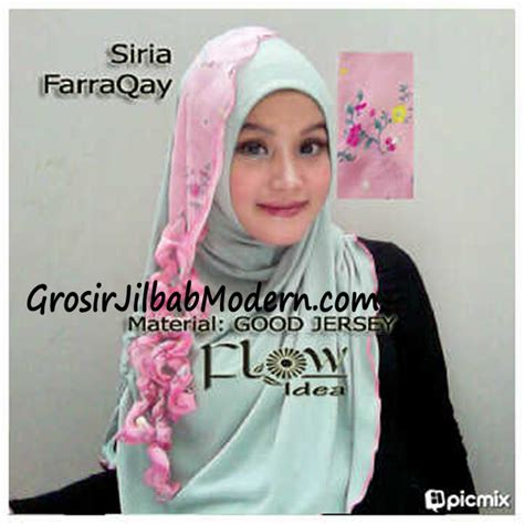 Jilbab Syari Kerudung Kerudung Instant Syiria Khanza jilbab syria farraqay hijau pink grosir jilbab modern