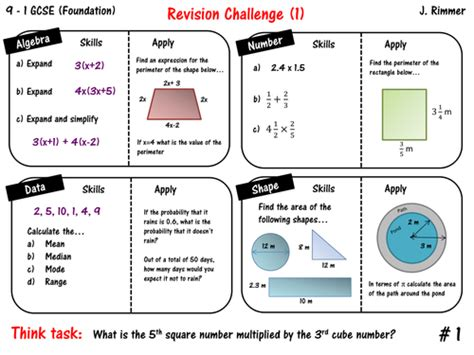 Free Year 9 Maths Revision by Gcse Maths Resources Tes