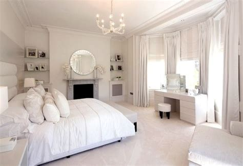 bedroom fancy curtains in white color of special design elegant powder white bedroom pictures photos and images