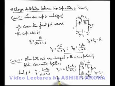 how to find charge on a capacitor 30 physics capacitance charge distribution between two capacitors in parallel ashish
