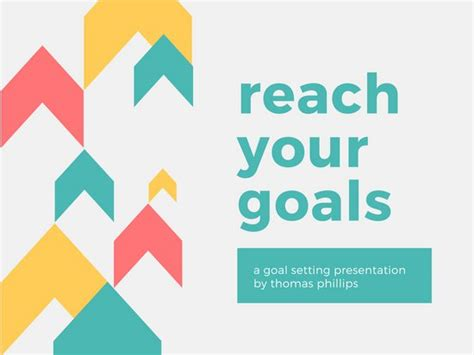 Goal Setting Presentation Colorful Creative Goal Setting Presentation Templates Canva Free Canva Powerpoint Templates