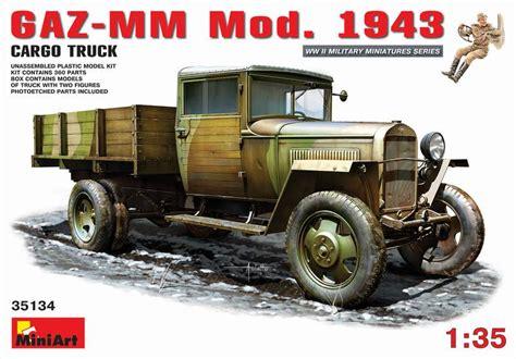 Miniart 35134 Gaz Mm Mod 1943 gaz mm mod 1943 1 5t cargo truck wwii 1 35 miniart 35134