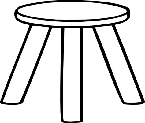 A Three Legged Stool by Three Legged Stool Outline Clip At Clker Vector