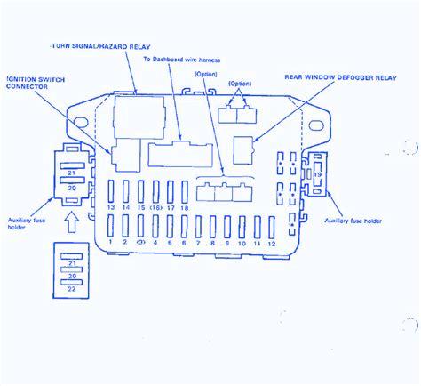honda crx relay wiring diagram honda crx voltage