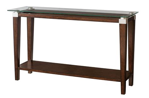 Hammary Solitaire Sofa Table In Rich Dark Brown Beyond