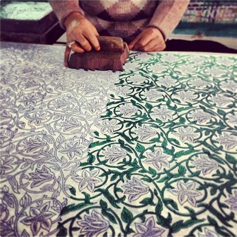 the amazing block printing technique that we use on all of