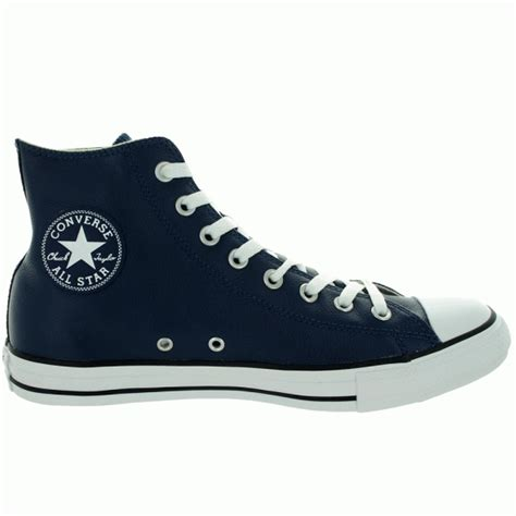 sepatu converse leather navy converse chuck all navy leather hi top