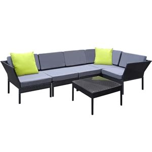 outdoor sofa melbourne buy stackable 6 pc black wicker outdoor 5 seater furniture