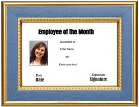 employee of the month certificate template with picture free custom employee of the month certificate
