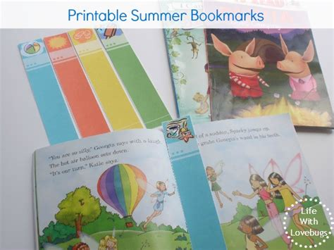 printable summer bookmarks printable summer bookmarks blog hop life with lovebugs