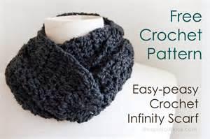 Easy Crochet Infinity Scarf Pattern Free Easy Crochet Infinity Scarf Patterns
