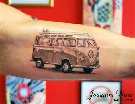 vw bus tattoo v dub surf vw cing tattoos surf