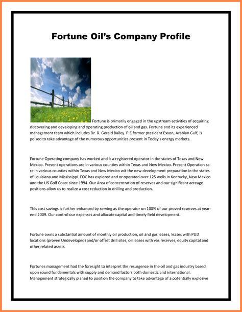 sample  company profile format company letterhead