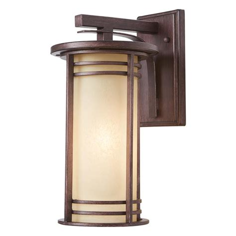 home decorators outdoor lighting home decorators collection 15 in 1 light bronze outdoor