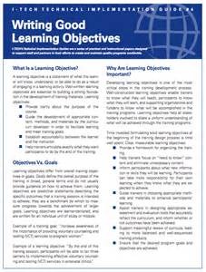 introduction how to write learning objectives content
