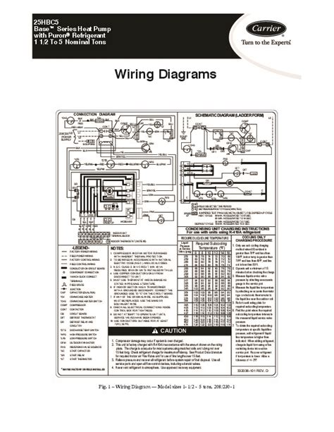 carrier heat wiring diagram carrier 25hbc5 1w heat air conditioner manual
