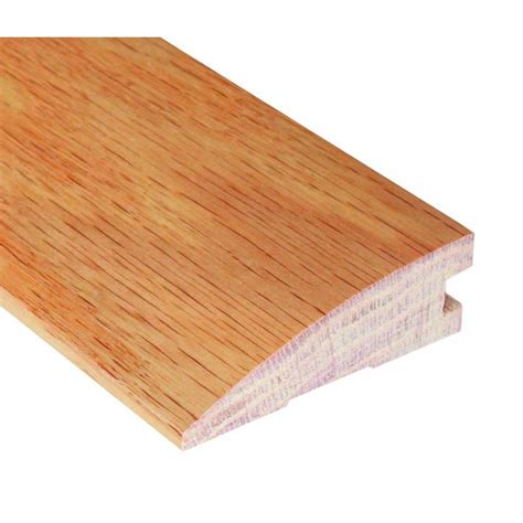 Hardwood Floor Molding Oak 1 2 In Thick X 1 3 4 In Wide X 78 In Length Hardwood Flush Mount Reducer