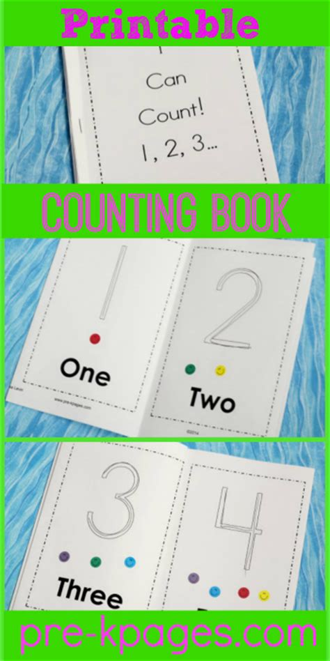 printable toddler books printable counting book