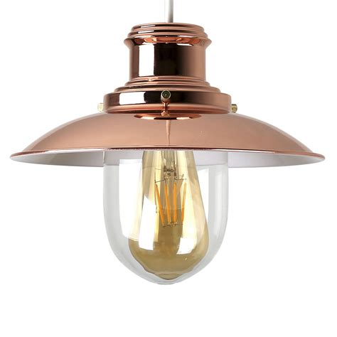 fisherman pendant light replacement glass modern fishermans copper glass ceiling light pendant