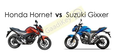 Suzuki Vs Honda Honda Hornet Vs Suzuki Gixxer Specs Comparison Gaadikey