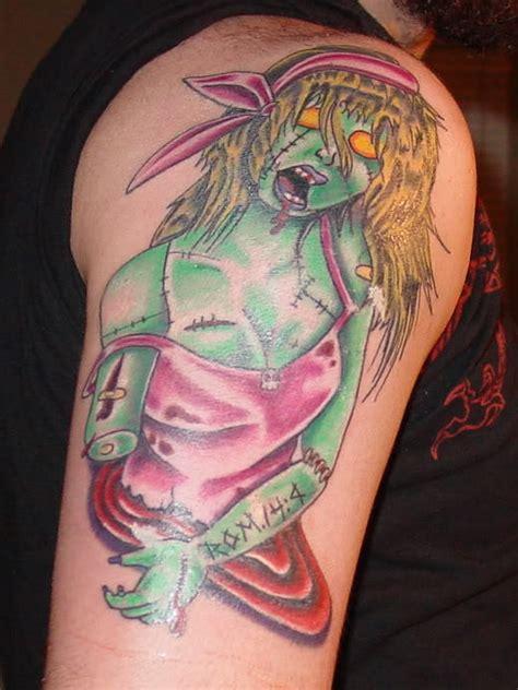 tattoo girl zombie zombie tattoos