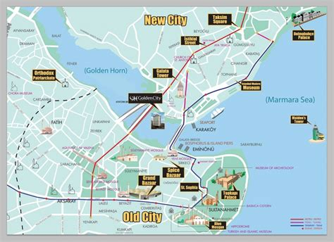 istanbul map tourist attractions places to see in istanbul new zone