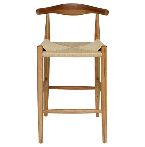 White Oak Counter Stool by Quinn American White Oak Modern Rattan Seat Counter Stool