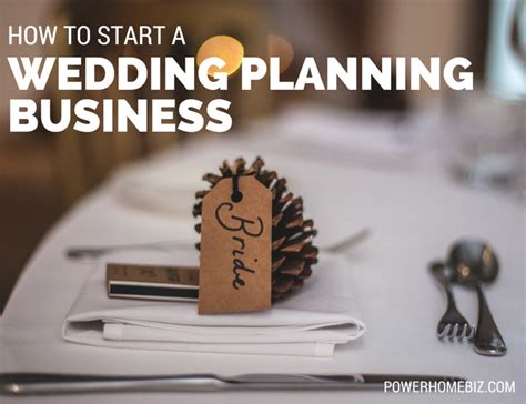 how to start a wedding planning business wedding planner