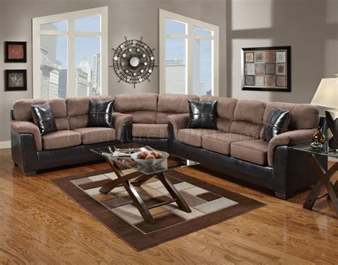 vinyl sectional chocolate fabric dark brown vinyl modern sectional sofa