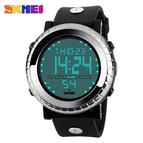 New Jam Tangan Pria Sport Original Skmei 1209 Water Resist 50m Black jual jam tangan pria skmei digital sport original