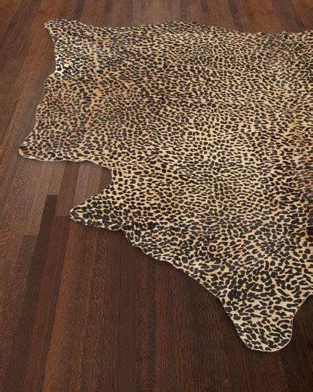 Alida Leopard Print Hairhide Rug 6 X 7 Leopard Print Rug