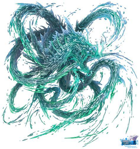 blue water dragon render by nezu nyan on deviantart