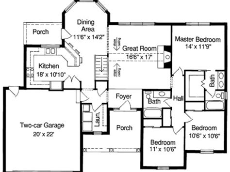 simple house floor plans with measurements simple ranch house plan unique ranch house plans simple