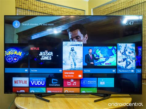 Tv Sharp Android And On Android Tv In The Sharp Aquos Lc 70ue30u Android Central