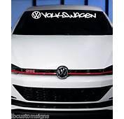VW Volkswagen Windshield Letter Decal Sticker Jetta Gti Vw