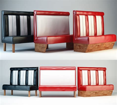 diner bench all 3dmodels com sharing 3d models flawlessy through all marketplaces