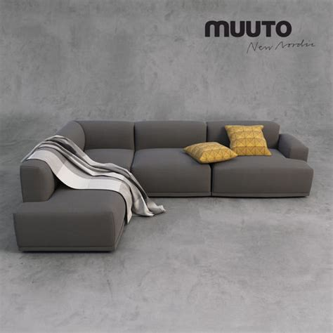 Sofa Set Accessories muuto sofa and accessories 3d model max fbx mat