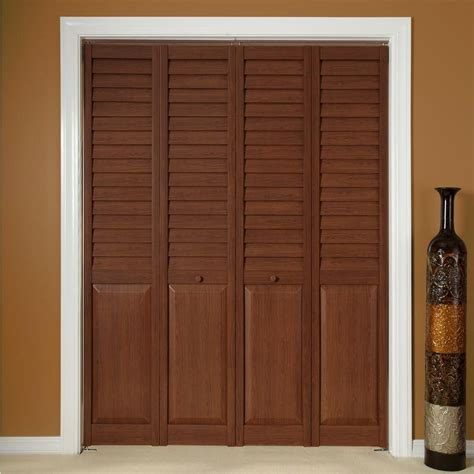 Louver Doors For Closets Home Fashion Technologies 30 In X 80 In 3 In Louver Panel Teak Composite Interior Closet