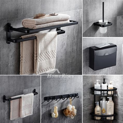 piece black oil rubbed bronze bathroom accessories set