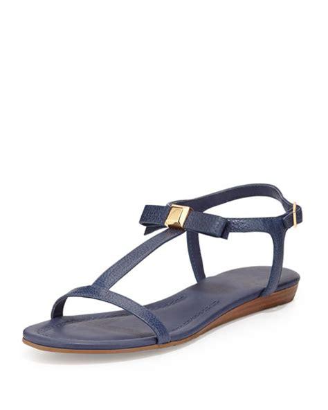 navy sandals flat kate spade new york tessa bow leather flat sandal navy