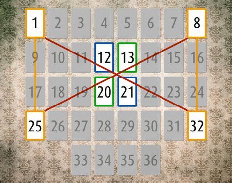 lenormand karten deutung große tafel bedeutung der eckkarten und mittelkarten im lenormand