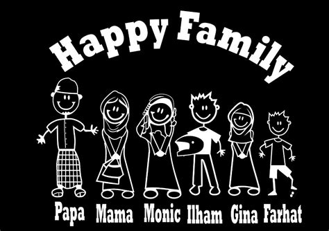 Stiker Mobil Happy Family Papa Cook jual stiker happy family edisi muslim termurah best seller di lapak pusat sticker kaca